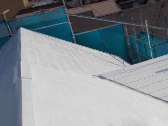 川崎市 屋根塗装 アレスクール シーラー塗布後
