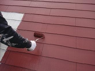 塗料も厚くしすぎるとタレてしまう部分が出る為に均一になるよう調整します