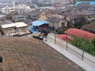 横浜市緑区 屋根カバー工事 防水シート設置