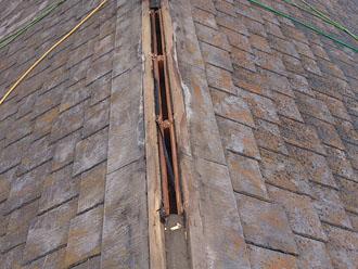 横浜市緑区 屋根カバー工事 棟板金撤去