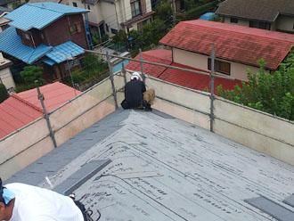 横浜市緑区 屋根カバー工事 エコグラーニ