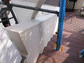 横浜市緑区 外壁塗装工事 階段まわり