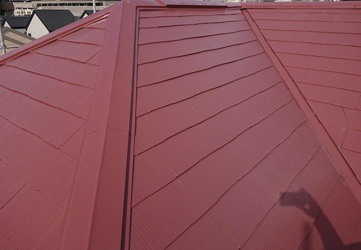 相模原市中央区並木にて、遮熱塗料サーモアイSi(クールブラウン)で屋根塗装を行いました