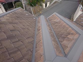 棟と谷が複雑に入り組んだ多面体の屋根形状