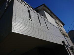 塗膜のふくれが酷かったバルコニー外部の塗装後の様子