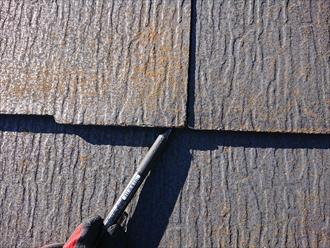 横浜市都筑区勝田町にてスレート屋根の点検調査、表面に黄色く苔が生えてきたら塗装でのメンテナンスをしてスレートの劣化を防ぎましょう