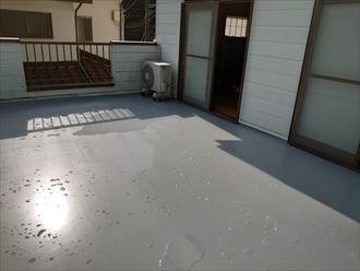ウレタン防水密着工法にて雨漏り解消