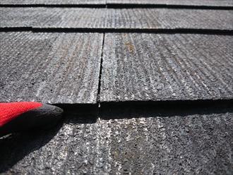 横浜市都筑区南山田にて築20年以上経ち2回目の屋根塗装をお考えのお宅のスレート屋根を調査致しました
