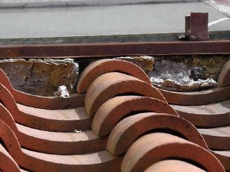 横浜市青葉区 屋根 漆喰の劣化