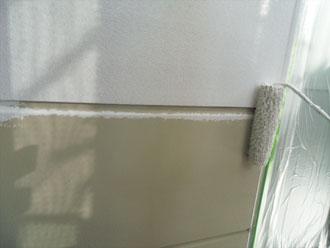 横浜市緑区 外壁塗装工事 上塗り