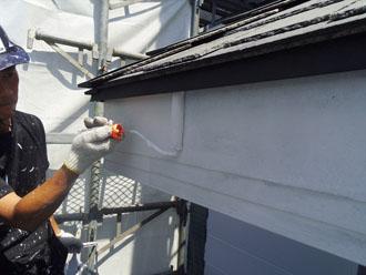 横浜市緑区 外壁塗装工事 破風板塗装