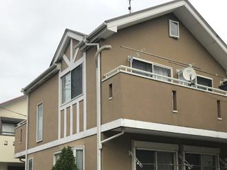 相模原市南区東林間にて、サーモアイSiによる屋根塗装工事とパーフェクトトップによる外壁塗装を行いました、施工前写真