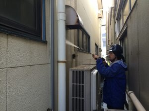 外壁散水試験②