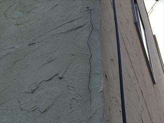相模原市緑区ジョリパットで柄付けされた外壁の塗り替え調査