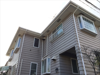 ラップサイディング住宅に外壁塗装と屋根塗装|横浜市磯子区、施工前写真