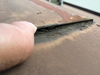 相模原市南区木材で造られた化粧板とモルタル壁の劣化