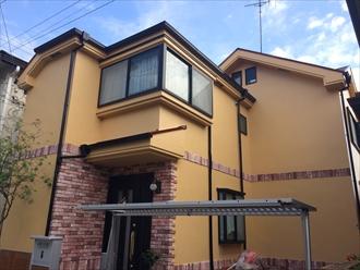 湘南藤沢市で屋根と外壁にサーモアイシリーズを使用した塗装、施工後写真