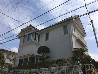 横浜市中区で2回目の外壁塗装、パーフェクトトップで艶やかに仕上げました、施工前写真