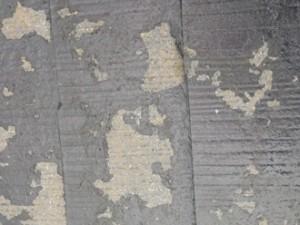 塗膜が剥がれた屋根