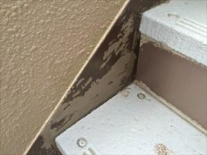 階段鉄部塗膜剥がれ拡大
