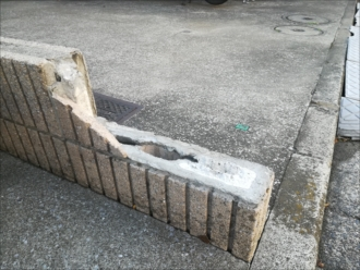 横浜市金沢区|ブロック塀の破損、補修方法のアドバイス
