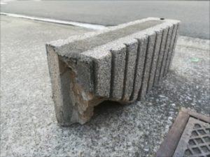 倒れたブロック