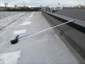陸屋根・防水シート状況