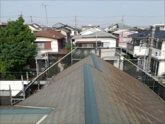 塗装前、屋根の様子