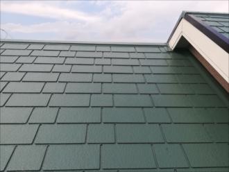 屋根上塗り~完成