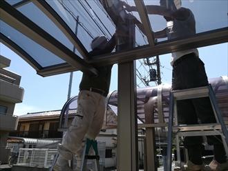 川崎市高津区|カーポート設置工事の様子