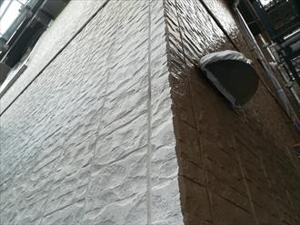 川崎市高津区で塗装による外壁リフォーム、色はブラウン系(ND-342)の半艶です