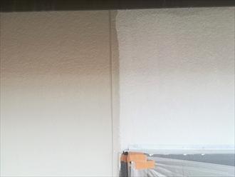 外壁下塗りから中塗り