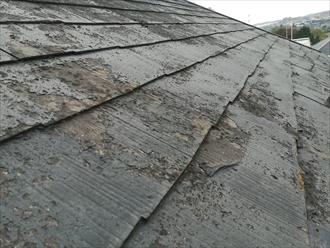 屋根材表面の劣化具合