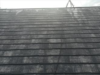 洗浄後の屋根の様子