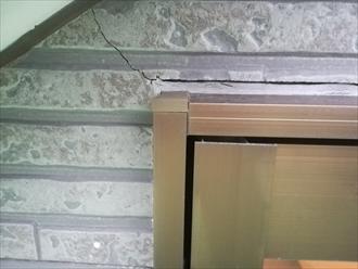 外壁材のひび