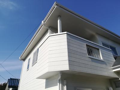 足柄上郡大井町金子にて外壁・屋根の塗装工事、外壁をパーフェクトトップ、スレート屋根をファインパーフェクトベストで塗装いたしました、施工後写真