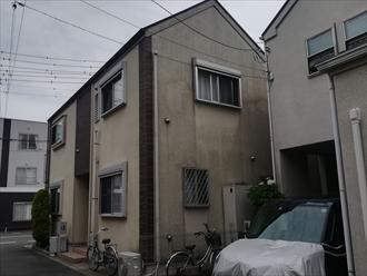 川崎市多摩区菅稲田堤にて築10年目で汚れが目立つ外壁に低汚染塗料での塗装のご提案