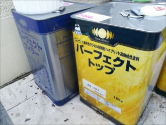 横浜市青葉区あざみ野にてパーフェクトトップ「ND-105」で外壁塗装