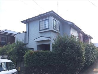 横浜市戸塚区下倉田町でエスケープレミアムシリコン(SR-132)で外壁塗装、外観を大きくイメージチェンジ、施工前写真
