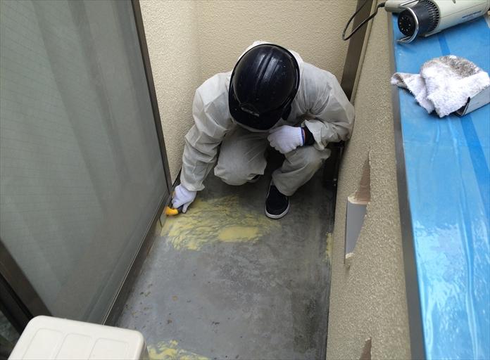 FRP防水ポリパテ補修⑤