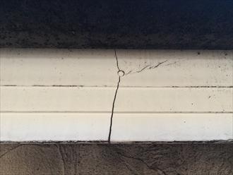 横浜市保土ヶ谷区の外壁調査、釘が打ってある部分はひび割れが起きやすい3