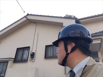 モルタル壁雨漏り調査①
