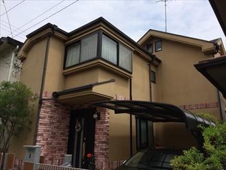 湘南藤沢市で屋根と外壁にサーモアイシリーズを使用した塗装、施工前写真