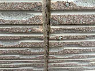 窯業系サイディングコーキング材の劣化