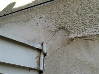 相模原市緑区築23年のモルタル壁調査で外壁塗装を計画中
