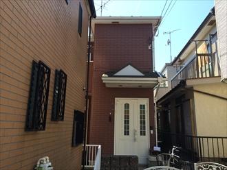 横浜市戸塚区の屋根外壁塗装、サーモアイSi(クールシルバーアッシュ)とパーフェクトトップ(ND-343)の組み合わせ、施工前写真