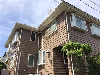 ラップサイディング住宅に外壁塗装と屋根塗装 横浜市磯子区、施工後写真