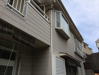 海老名市築18年のサイディング住宅で塗り替え調査