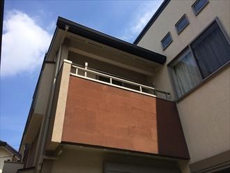 湘南鎌倉市築10年のお宅でリシンモルタル壁を塗り替え調査