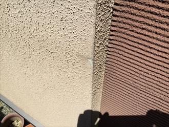 モルタル壁コーナー欠損